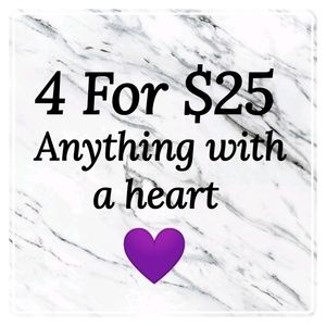 💜 4 For $25 sale 💜